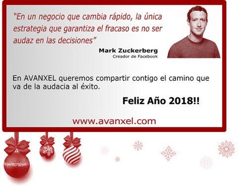 Avanxel felicitación Navidad 2017-2018