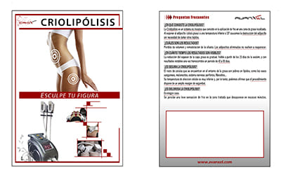 flyer marketing criolipolisis