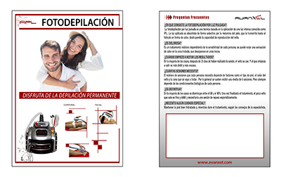 Flyer marketing fotodepilación APL